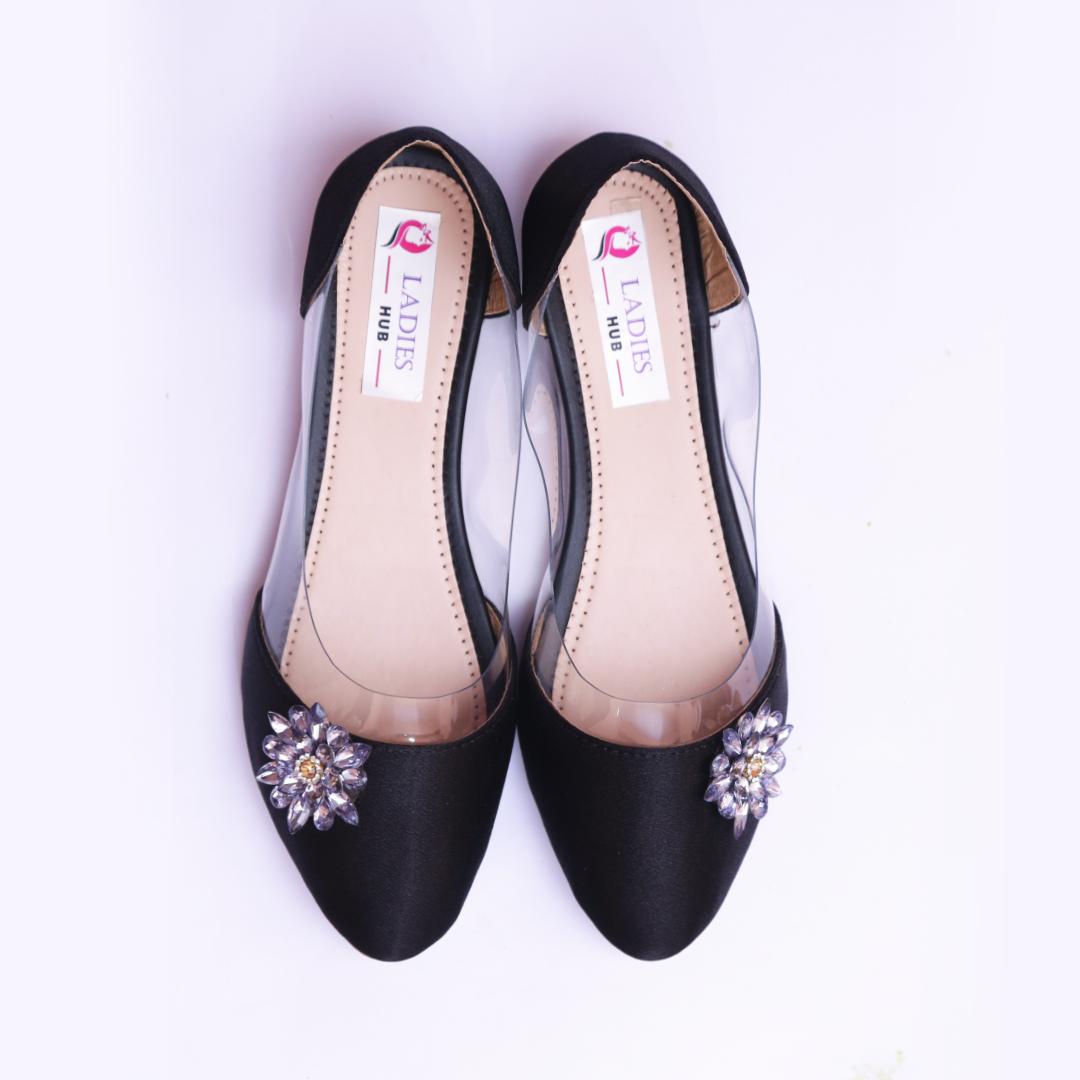 Women Black Ballerina Shoes