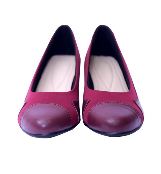 Shining Maroon Ballerina Shoes