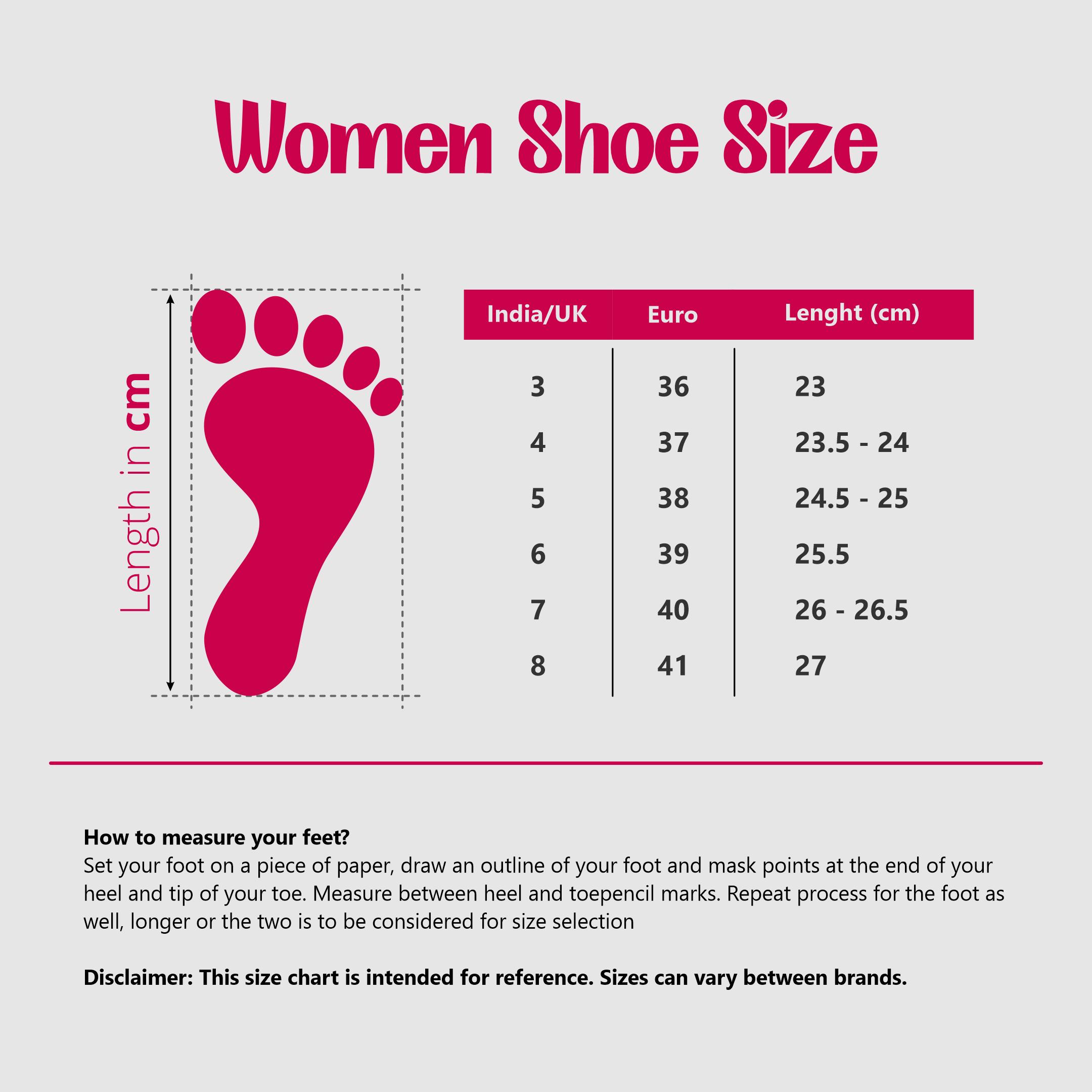 women shoe size